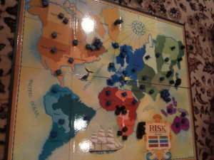 Risk game board